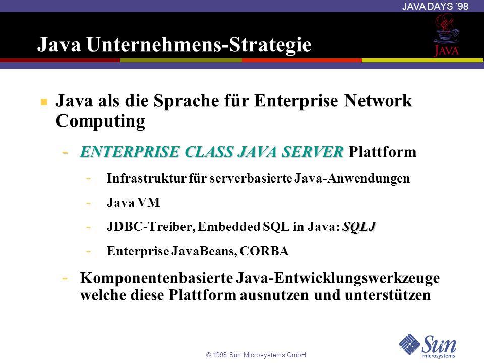 Java Unternehmens-Strategie