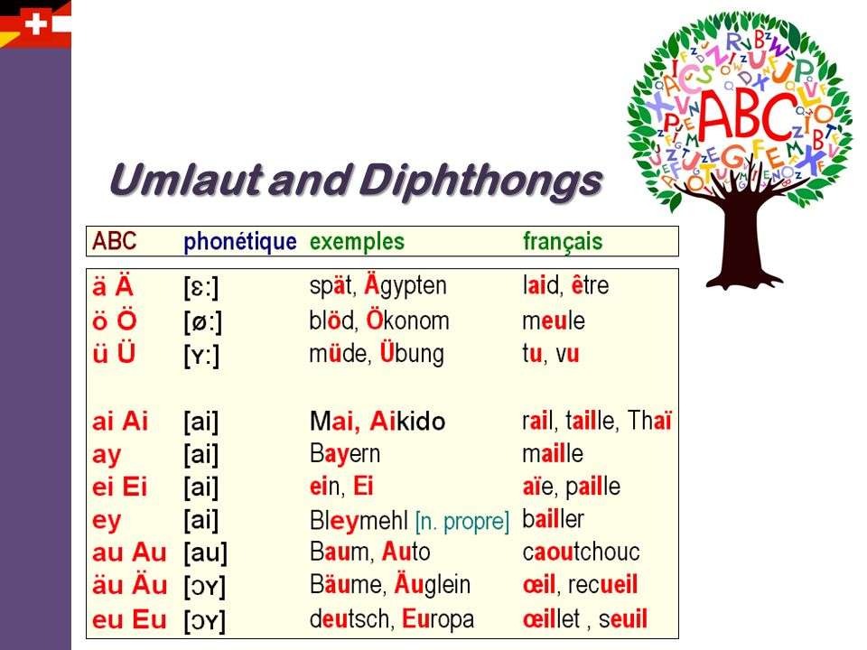 Umlaut and Diphthongs