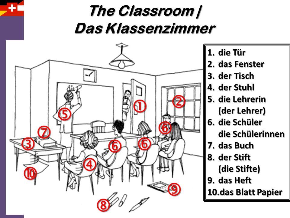             The Classroom | Das Klassenzimmer die Tür