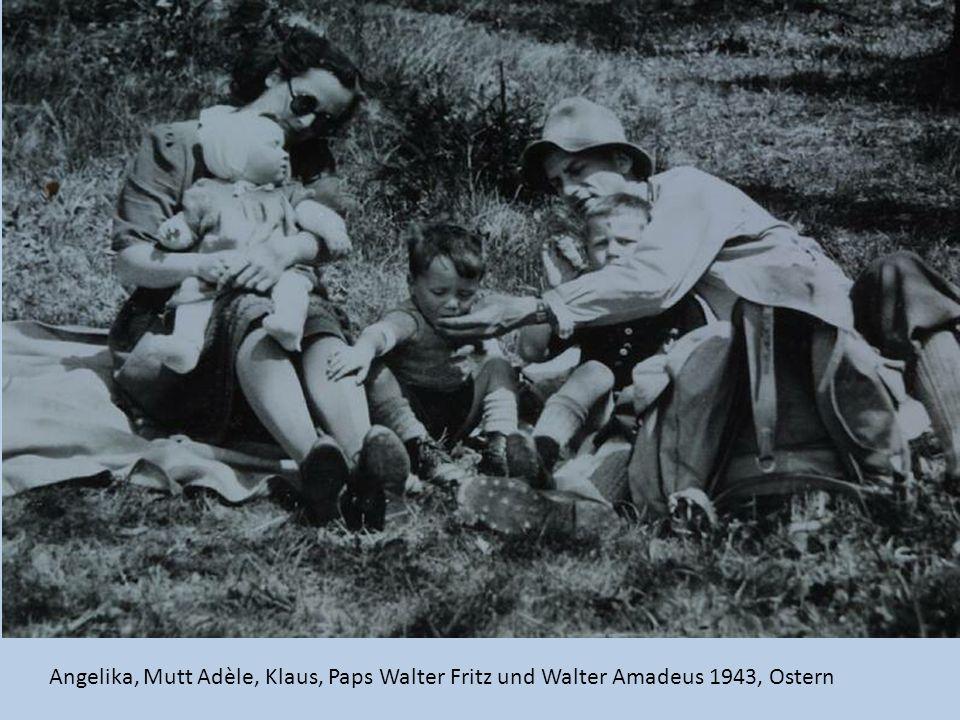 Angelika, Mutt Adèle, Klaus, Paps Walter Fritz und Walter Amadeus 1943, Ostern