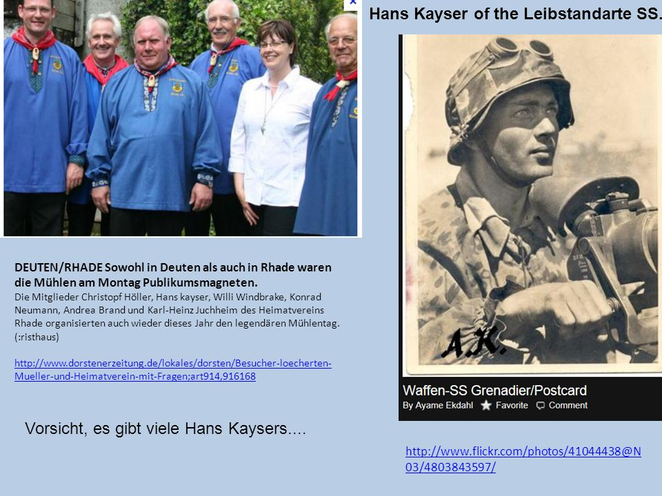 Hans Kayser of the Leibstandarte SS..
