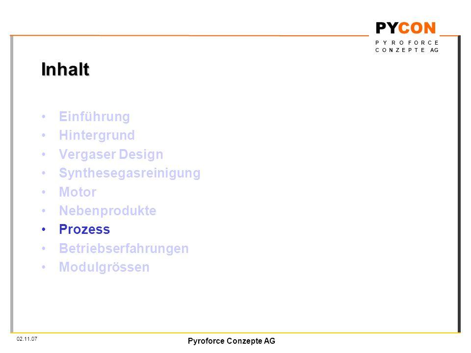 Inhalt Einführung Hintergrund Vergaser Design Synthesegasreinigung
