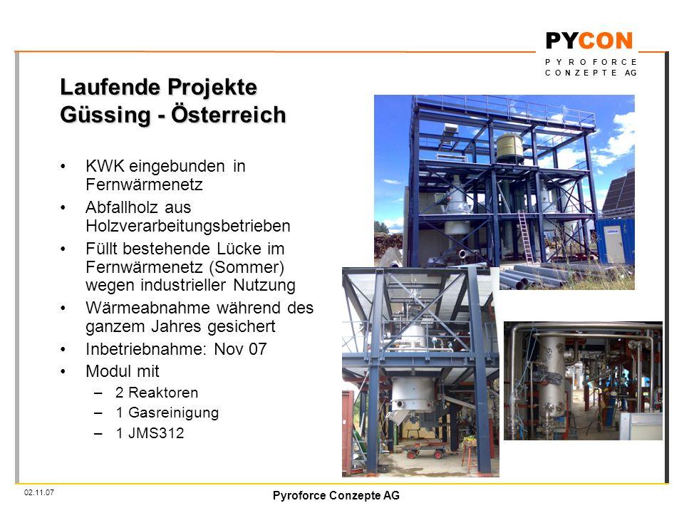 Laufende Projekte Güssing - Österreich