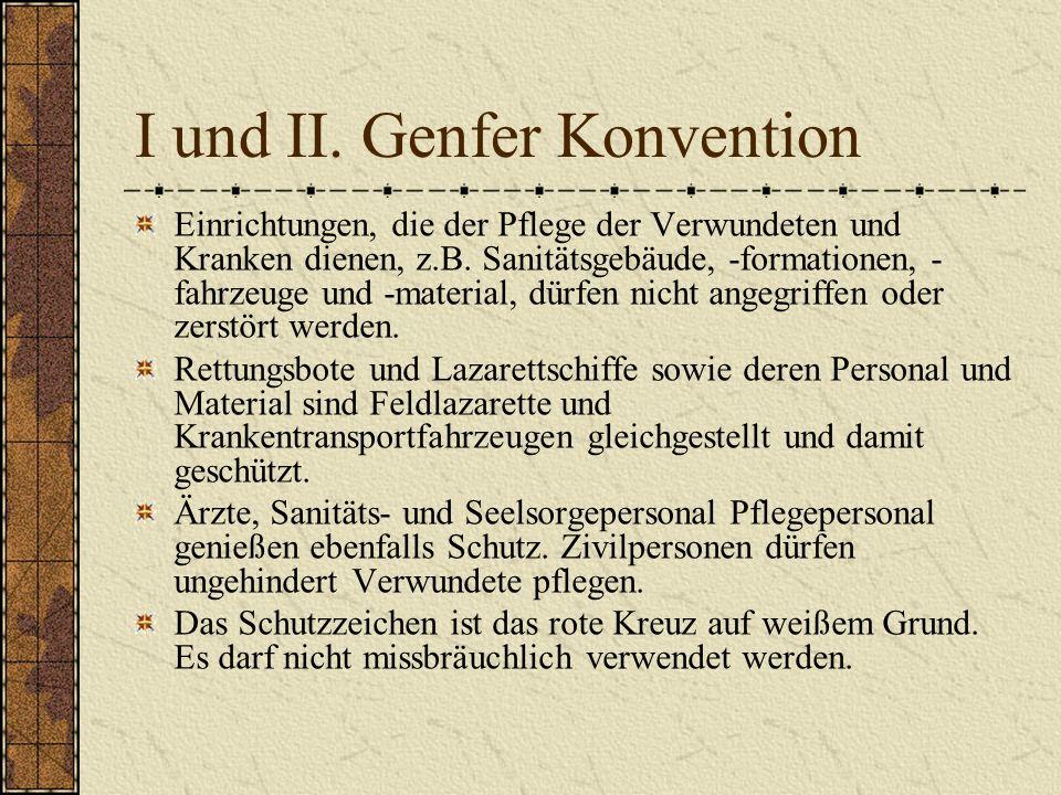 I und II. Genfer Konvention