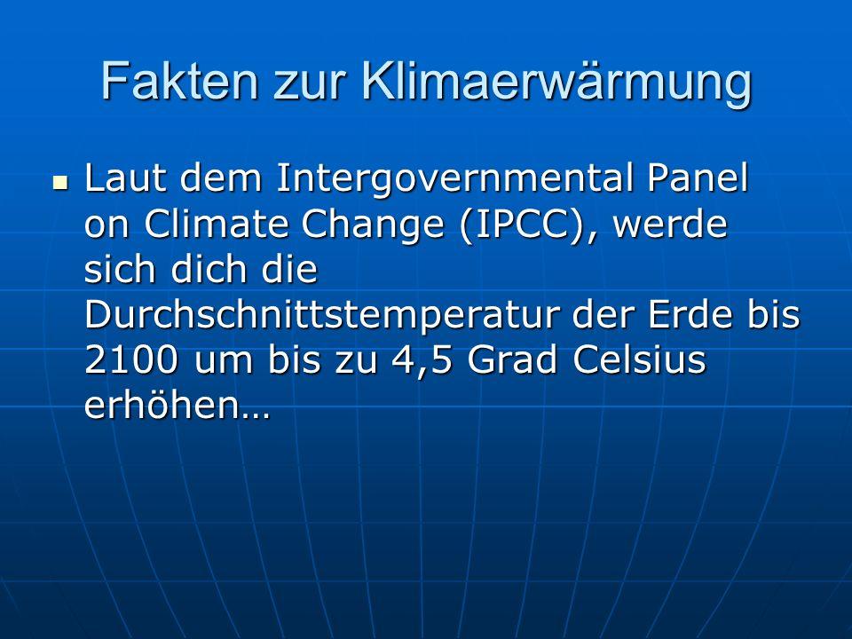 Fakten zur Klimaerwärmung