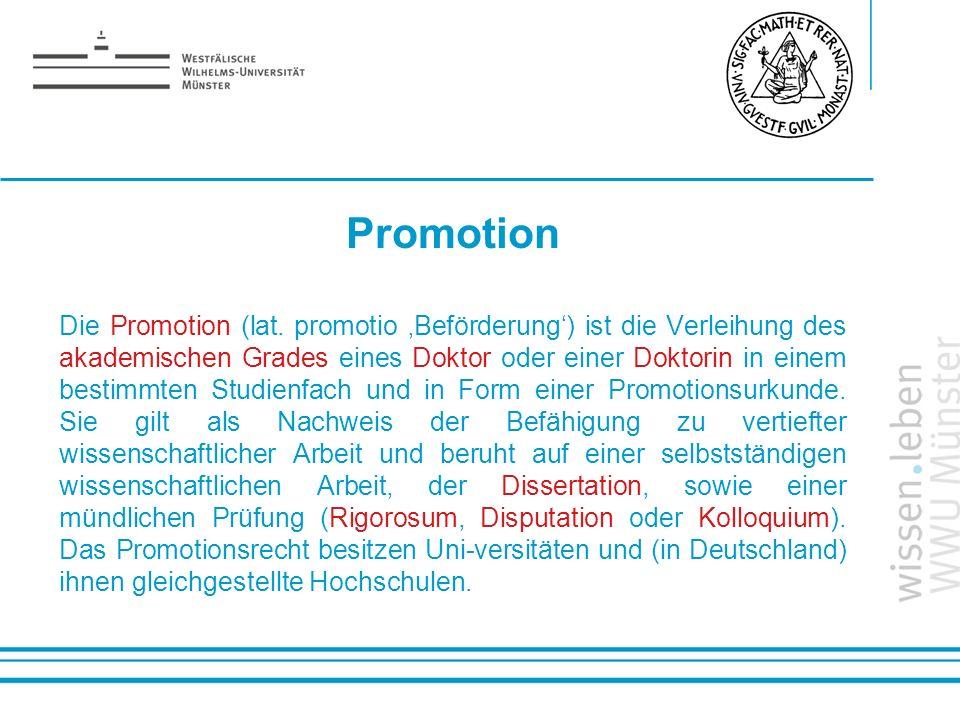 Promotion Die Promotion (lat