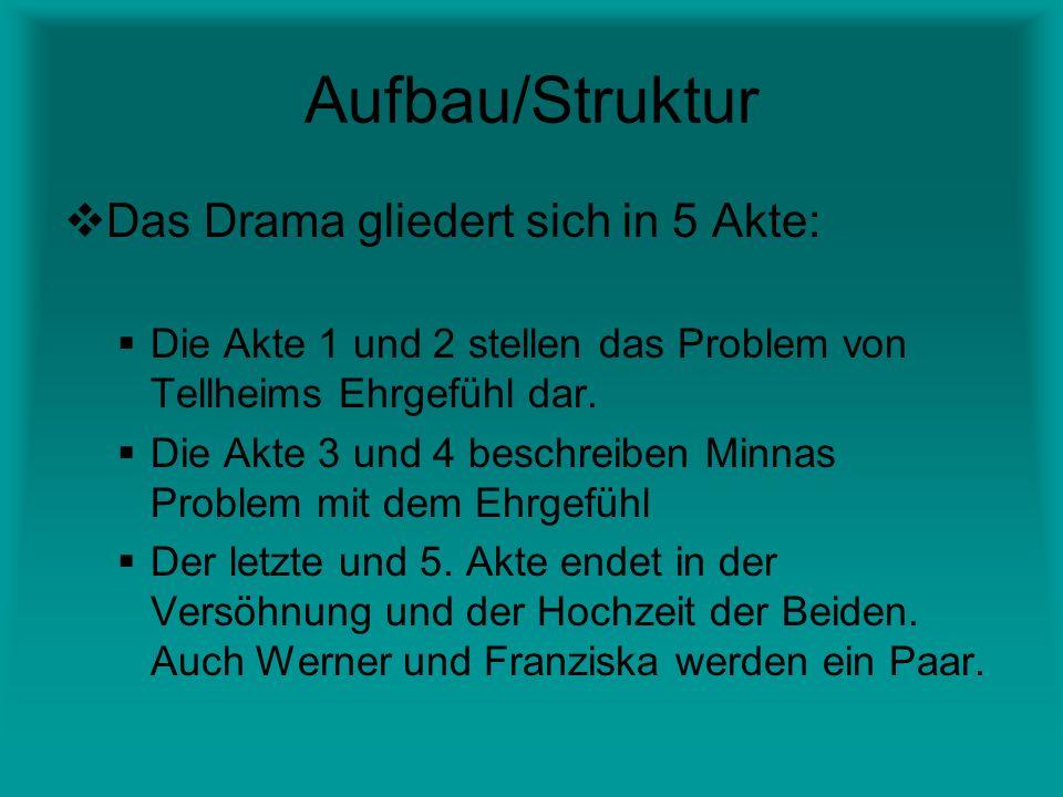 Aufbau/Struktur Das Drama gliedert sich in 5 Akte:
