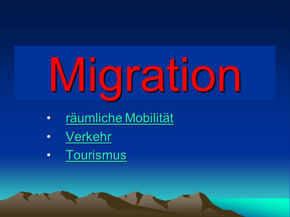 räumliche Mobilität Verkehr Tourismus