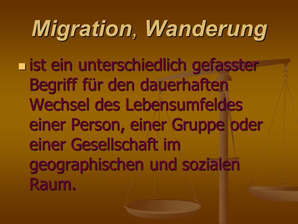 Migration, Wanderung