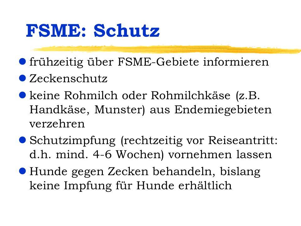 FSME: Schutz frühzeitig über FSME-Gebiete informieren Zeckenschutz