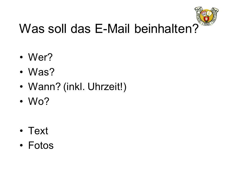 Was soll das E-Mail beinhalten