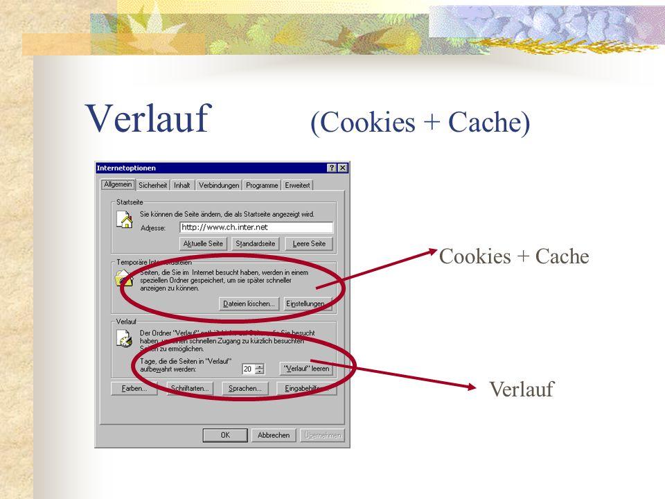 Verlauf (Cookies + Cache)