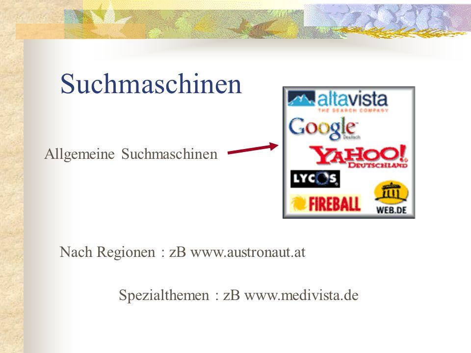 Suchmaschinen Allgemeine Suchmaschinen