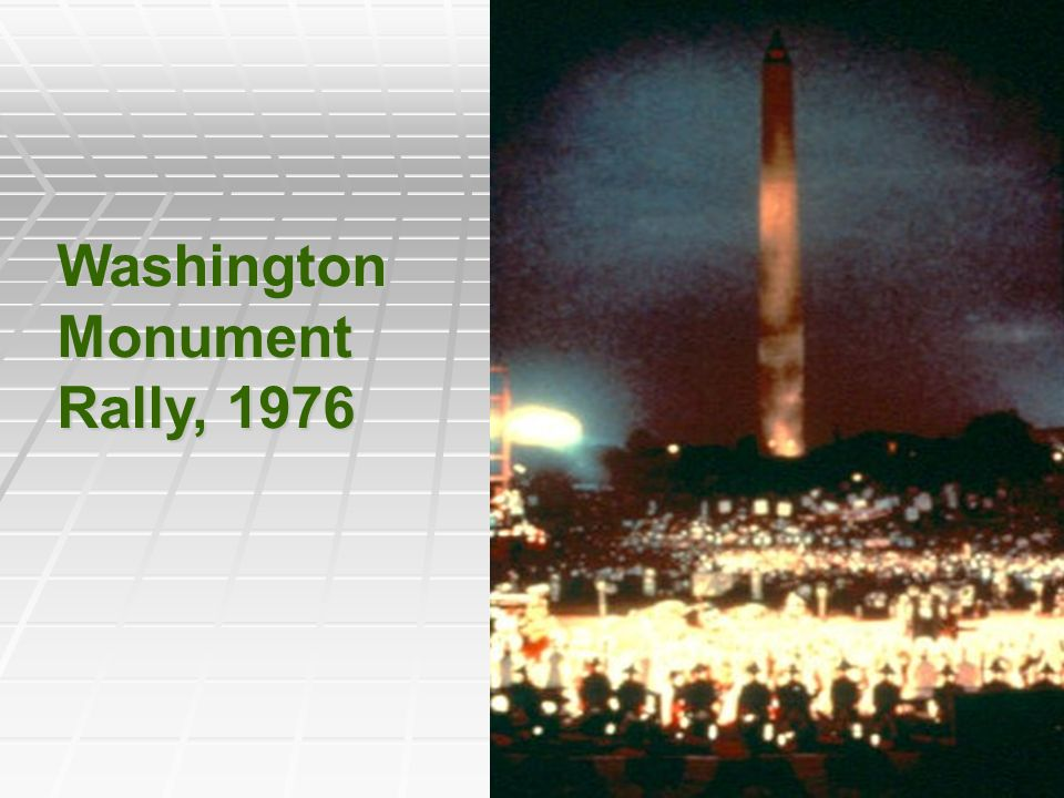 Washington Monument Rally, 1976