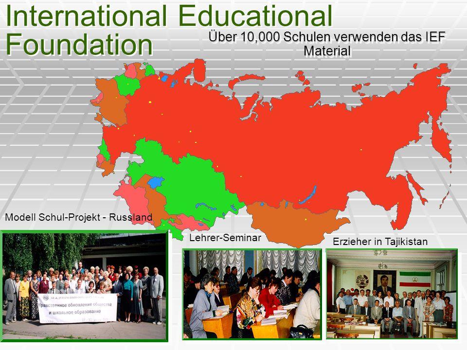 Über 10,000 Schulen verwenden das IEF Material