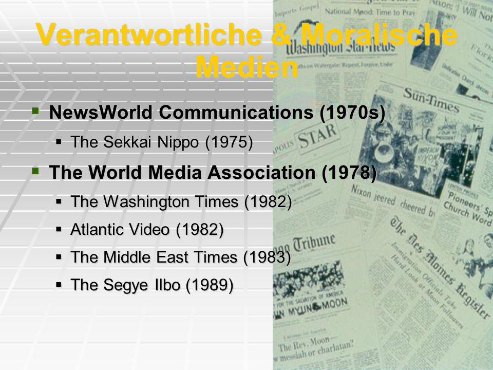 Verantwortliche & Moralische Medien