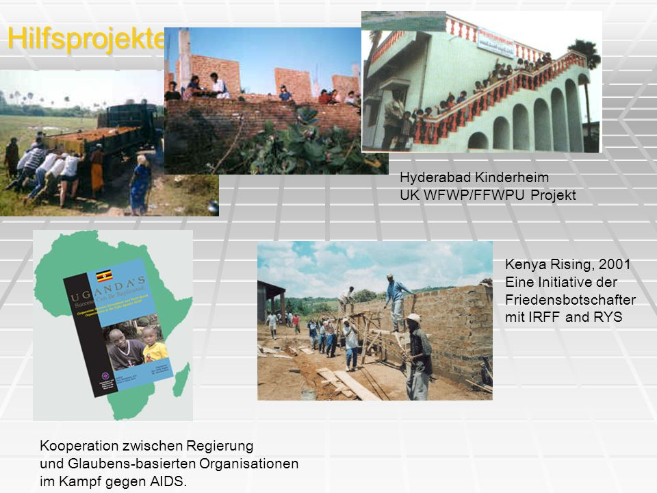 Hilfsprojekte Hyderabad Kinderheim UK WFWP/FFWPU Projekt