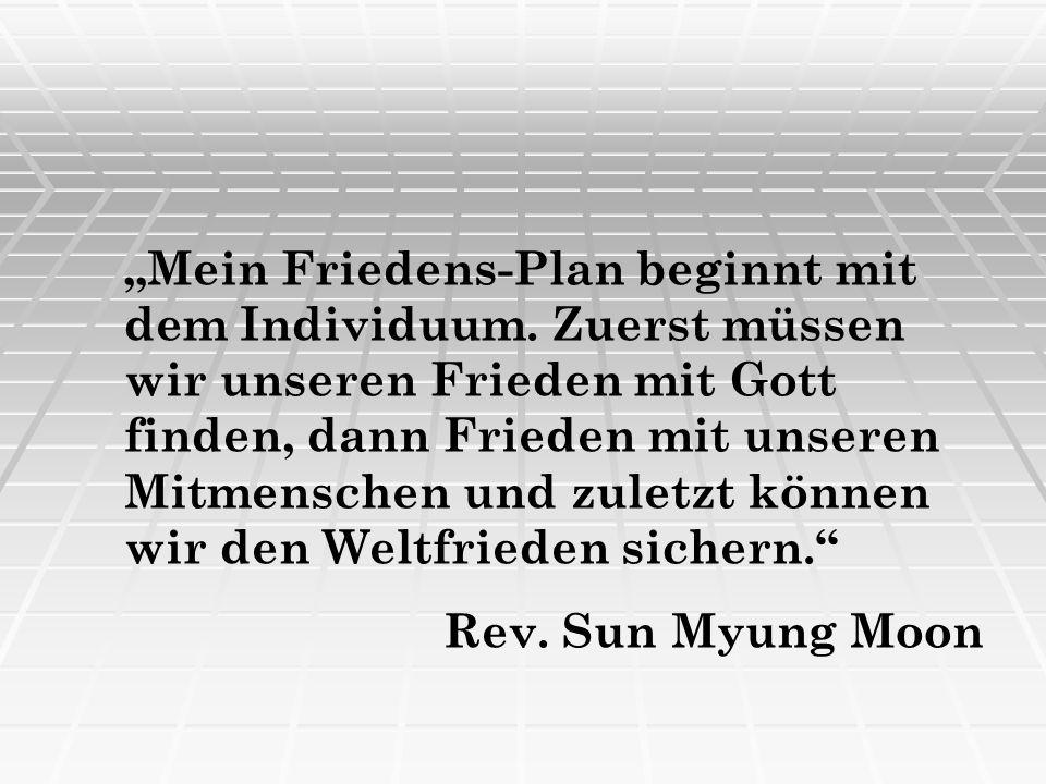 """""""Mein Friedens-Plan beginnt mit dem Individuum"""