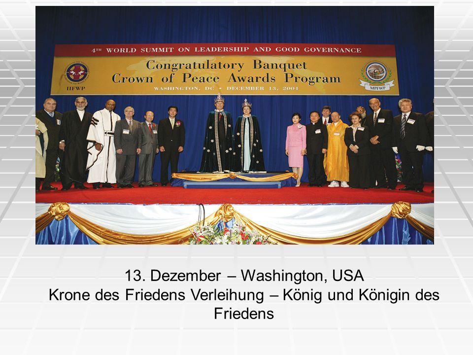 13. Dezember – Washington, USA
