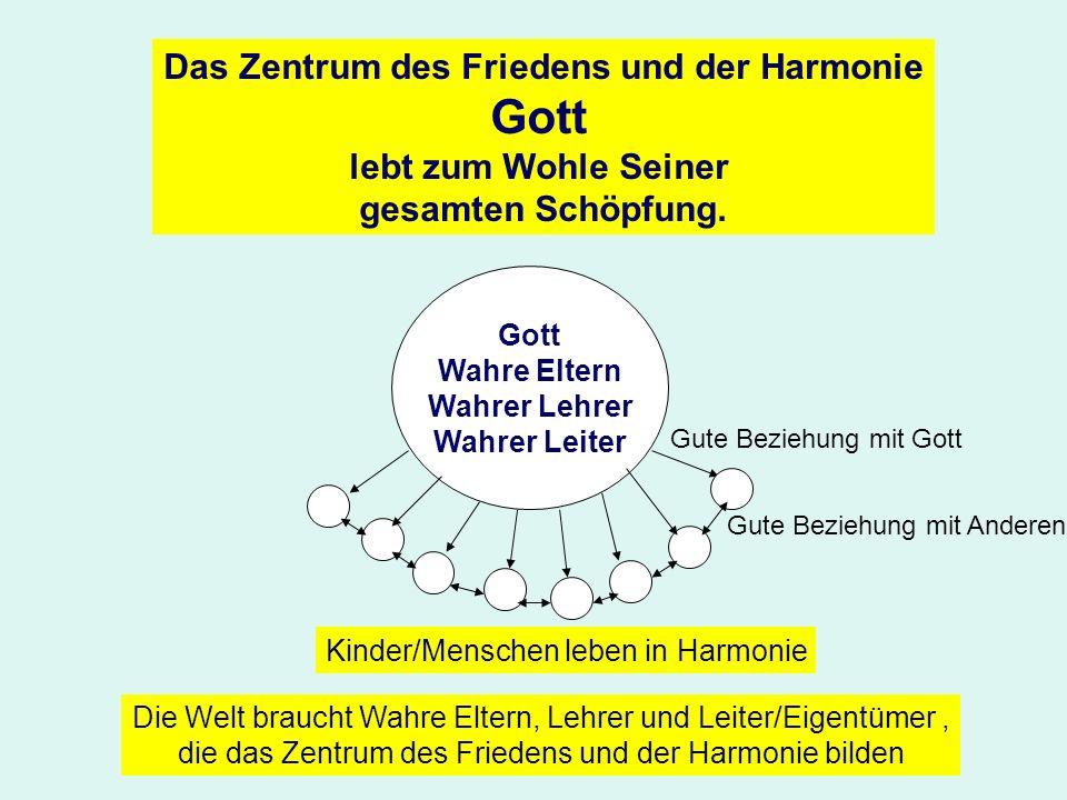 Das Zentrum des Friedens und der Harmonie