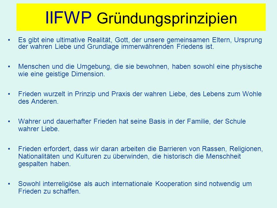 IIFWP Gründungsprinzipien