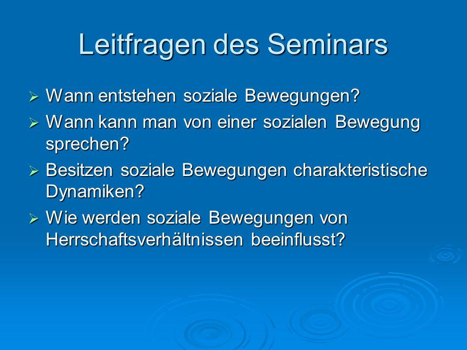 Leitfragen des Seminars