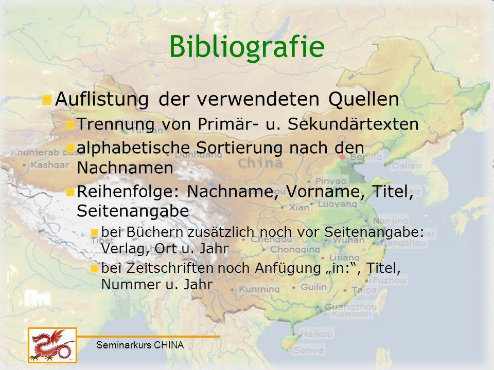 Bibliografie Auflistung der verwendeten Quellen