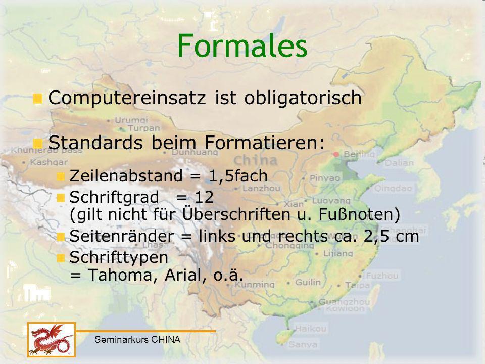 Formales Computereinsatz ist obligatorisch Standards beim Formatieren: