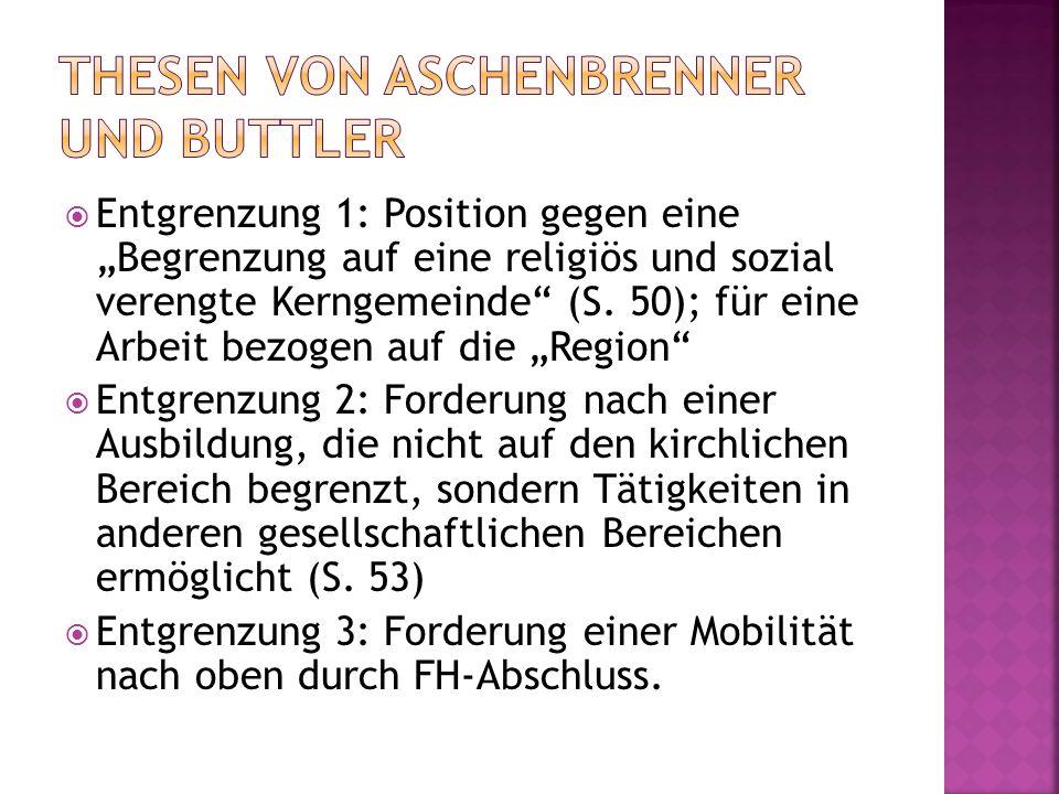 Thesen von Aschenbrenner und Buttler