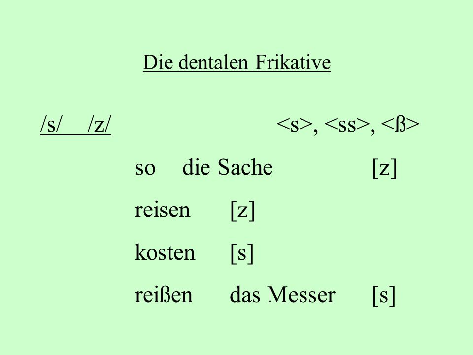 Die dentalen Frikative