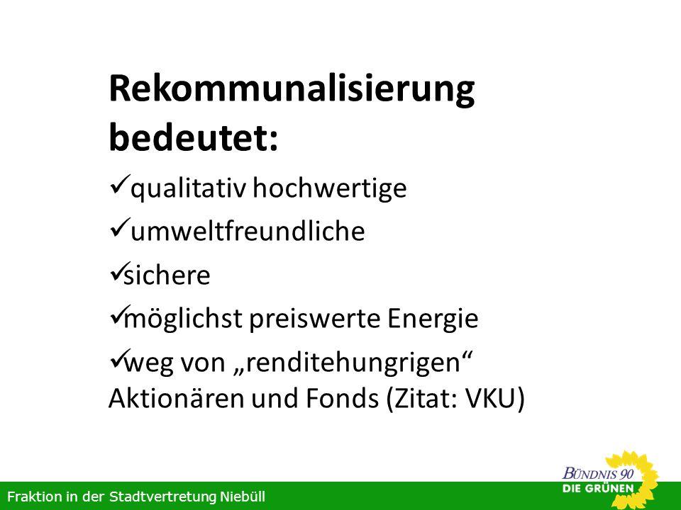 Rekommunalisierung bedeutet: