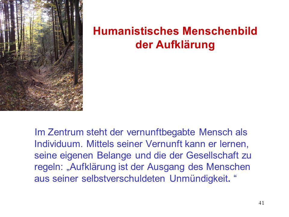 Humanistisches Menschenbild der Aufklärung