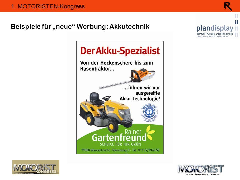 """Beispiele für """"neue Werbung: Akkutechnik"""