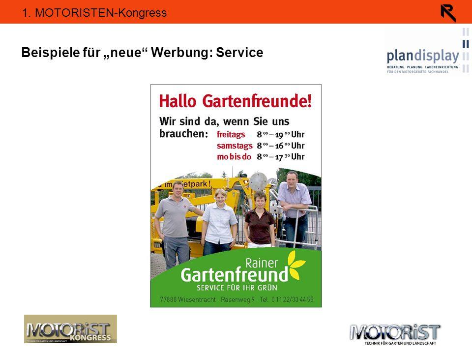 """Beispiele für """"neue Werbung: Service"""