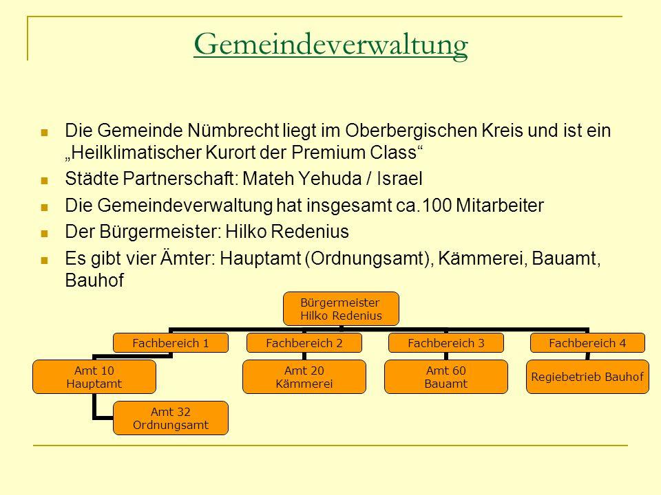 """Gemeindeverwaltung Die Gemeinde Nümbrecht liegt im Oberbergischen Kreis und ist ein """"Heilklimatischer Kurort der Premium Class"""