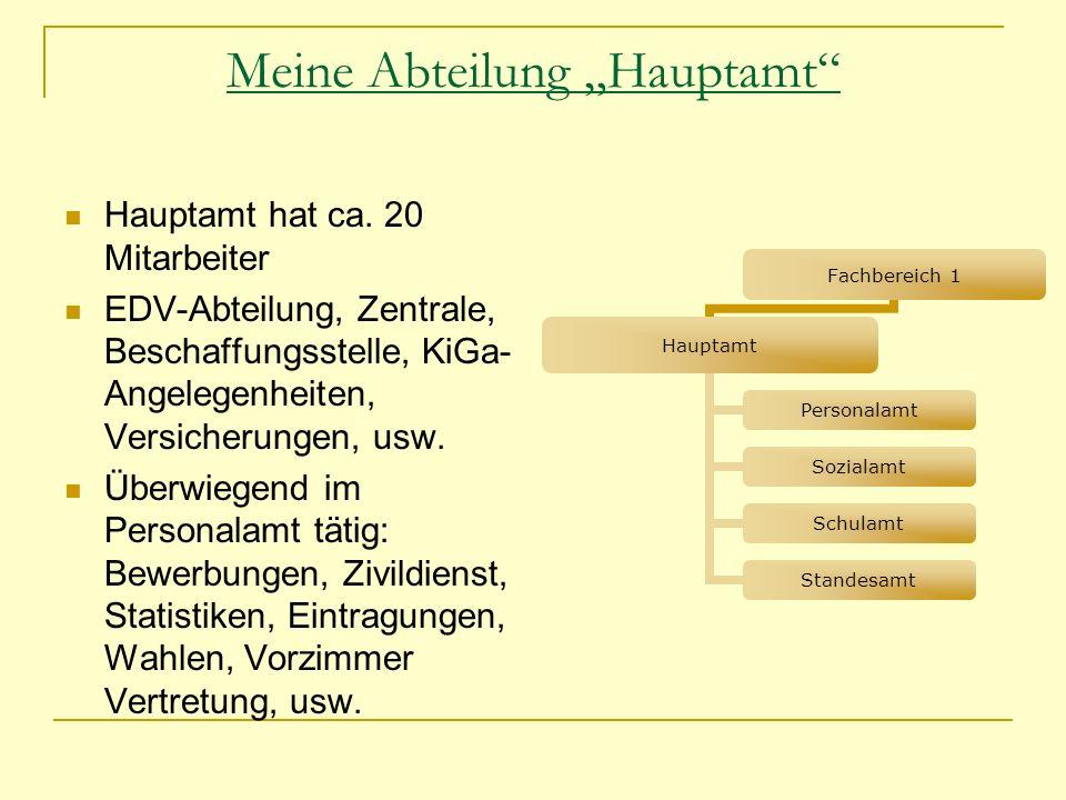 """Meine Abteilung """"Hauptamt"""