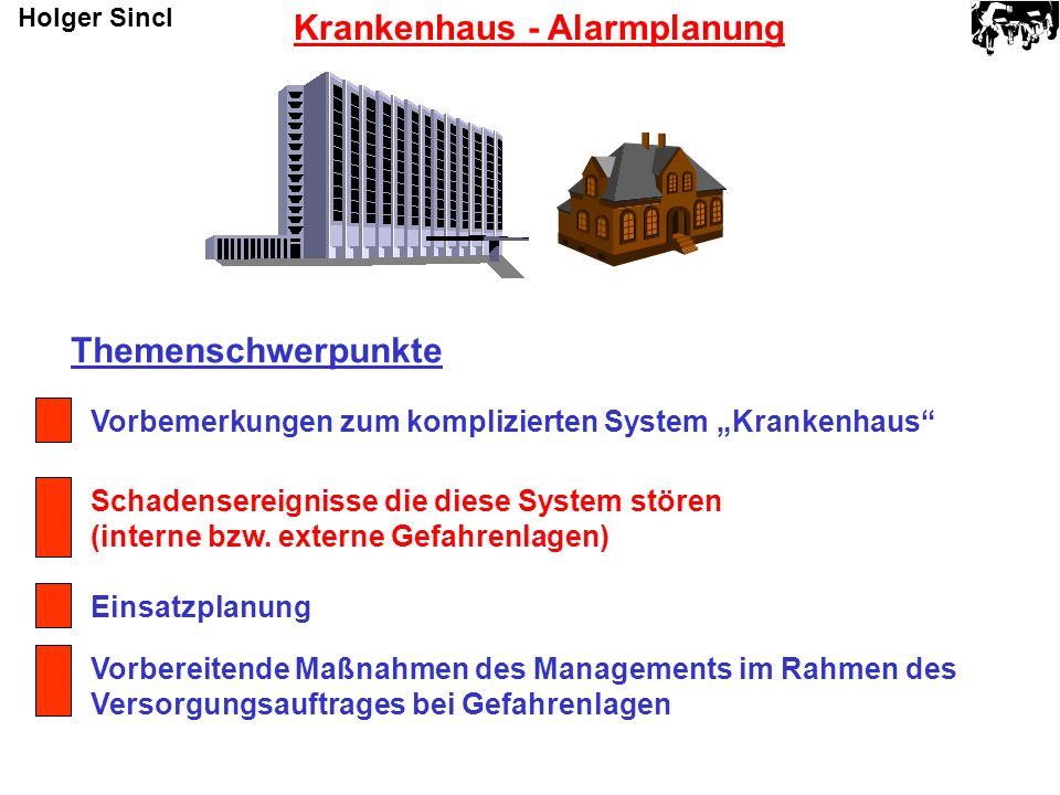 Krankenhaus - Alarmplanung