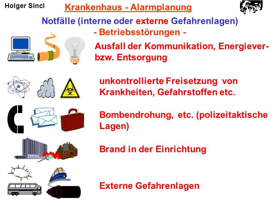 Notfälle (interne oder externe Gefahrenlagen)