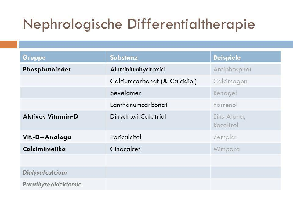 Nephrologische Differentialtherapie