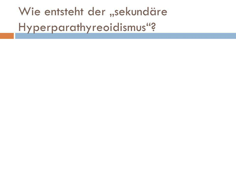 """Wie entsteht der """"sekundäre Hyperparathyreoidismus"""
