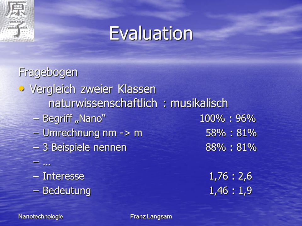 Evaluation Fragebogen