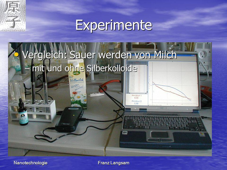 Experimente Vergleich: Sauer werden von Milch