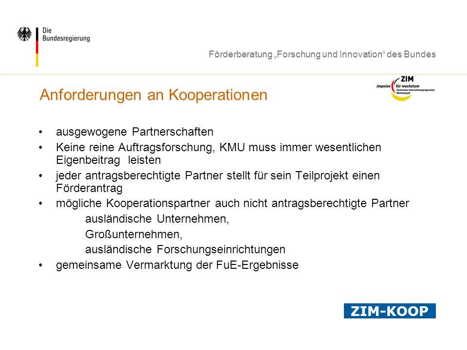 Anforderungen an Kooperationen