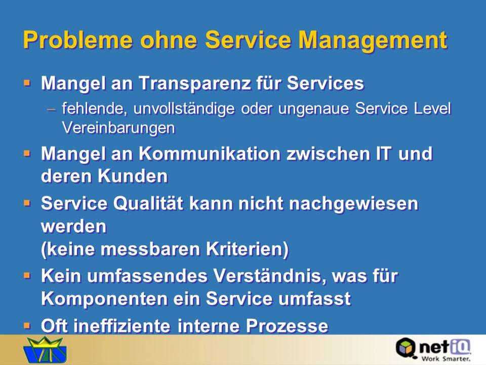 Probleme ohne Service Management