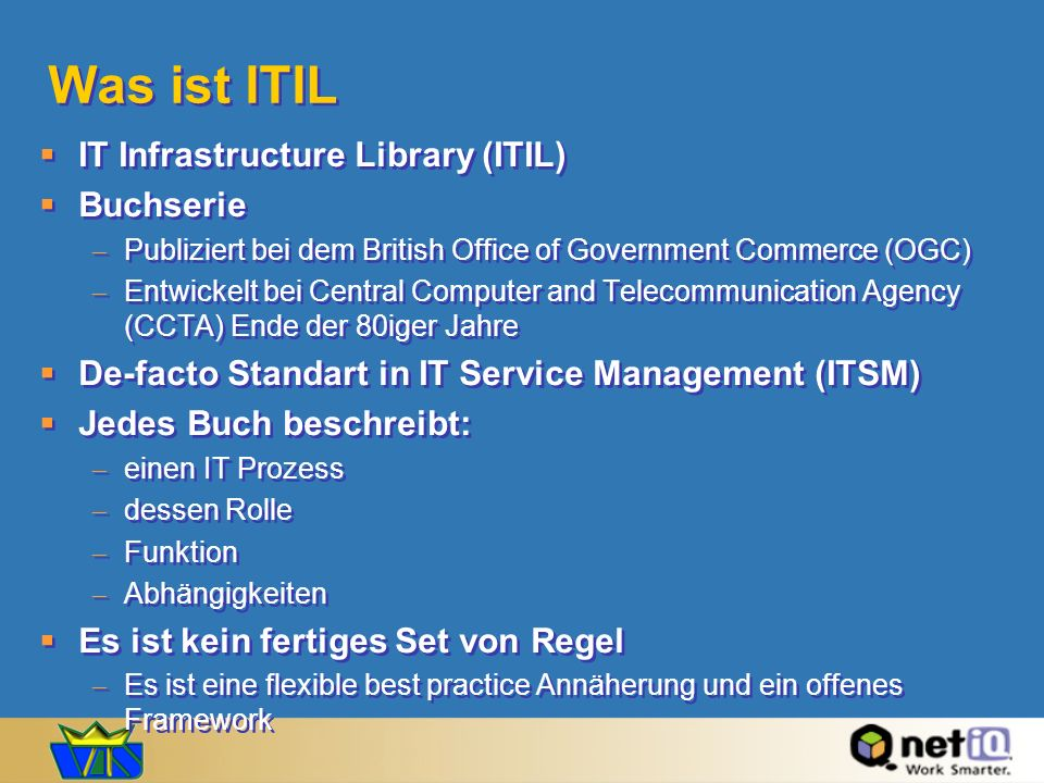 Was ist ITIL IT Infrastructure Library (ITIL) Buchserie