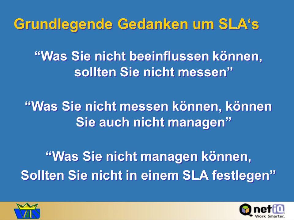 Grundlegende Gedanken um SLA's