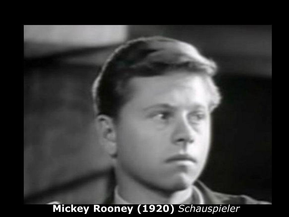 Mickey Rooney (1920) Schauspieler