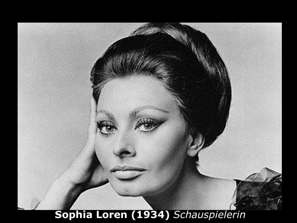 Sophia Loren (1934) Schauspielerin