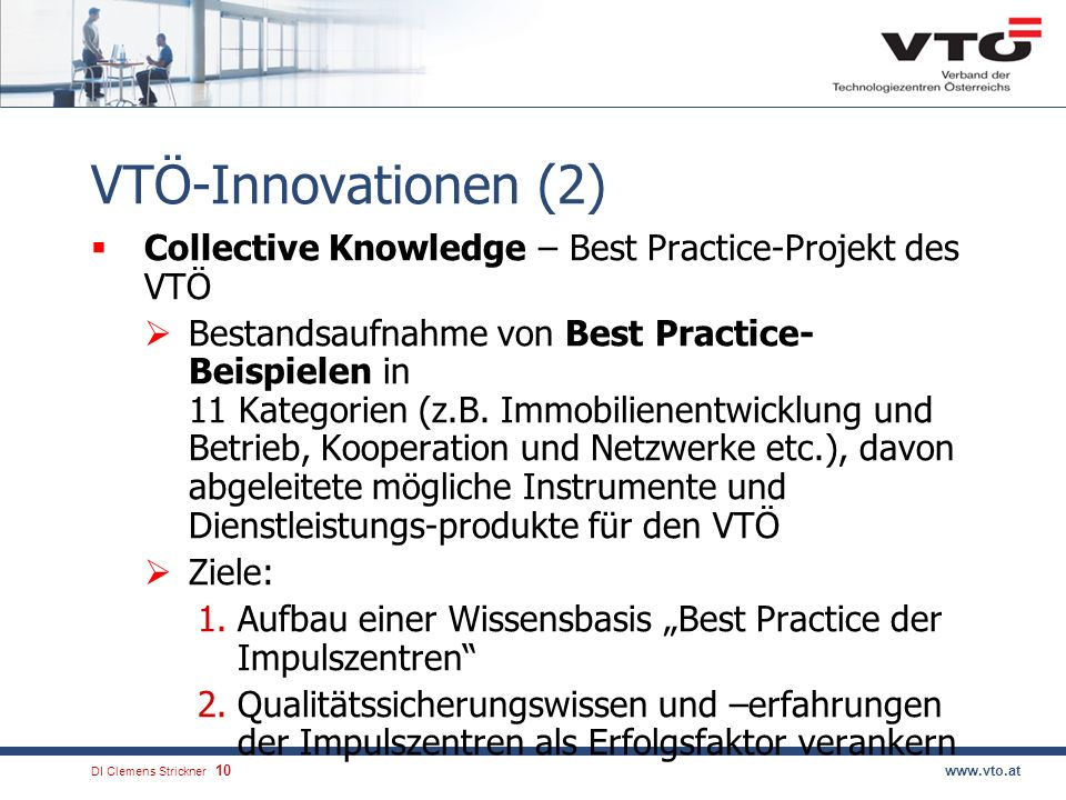 VTÖ-Innovationen (2) Collective Knowledge – Best Practice-Projekt des VTÖ.
