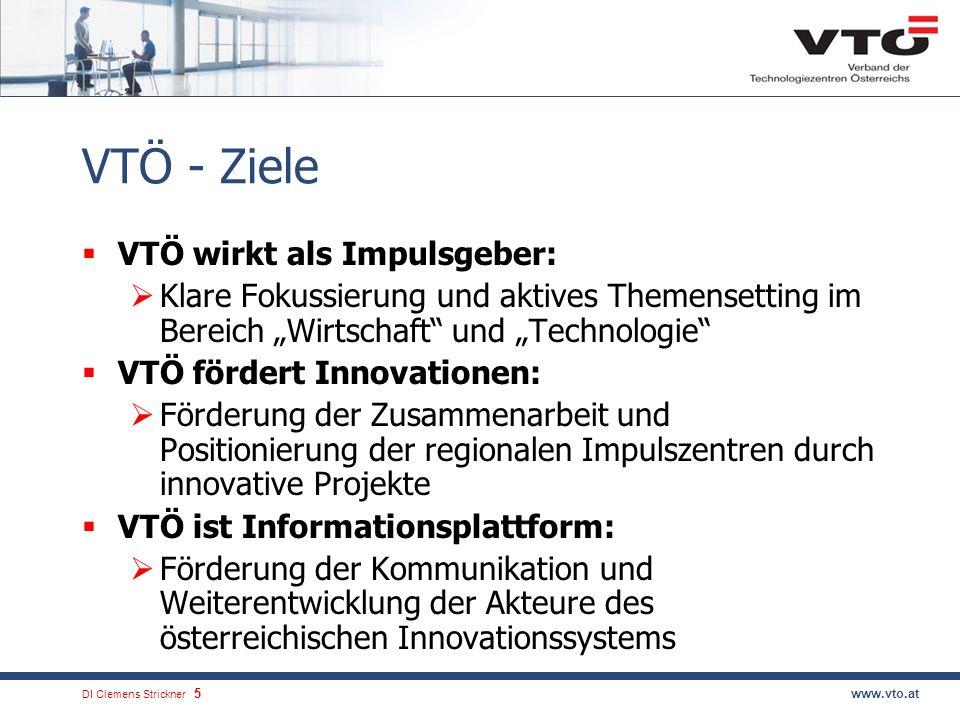 VTÖ - Ziele VTÖ wirkt als Impulsgeber: